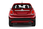Straight rear view of 2016 Fiat 500X-City-Look Pop-Star 5 Door Suv Rear View  stock images