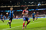 Atletico de Madrid's Diego Costa and Club Brugge's Thibault Vlietinck during UEFA Champions League match between Atletico de Madrid and Club Brugge at Wanda Metropolitano Stadium in Madrid, Spain. October 03, 2018. (ALTERPHOTOS/A. Perez Meca)