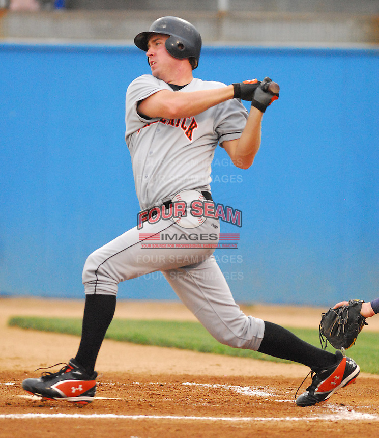 25 June 2007: Paul Winterling of the Frederick Keys, Class A affiliate of the Baltimore Orioles, vs. the Potomac Nationals, a Washington Nationals affiliate, at Pfitzner Stadium, Woodbridge, Va.  Photo by:  Tom Priddy/Four Seam Images
