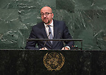 72 General Debate – 22 September <br /> <br /> His Excellency Charles Michel, Prime Minister of the Kingdom of Belgium