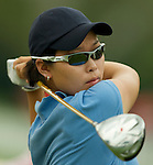 SINGAPORE - MARCH 07:  Sun Young Yoo of South Korea tees off on the par four 12th hole during the third round of HSBC Women's Champions at the Tanah Merah Country Club on March 7, 2009 in Singapore. Photo by Victor Fraile / The Power of Sport Images