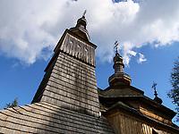 Griechisch-katholische Holzkirche St. Michael von 1742  in Ladomirova, Presovsky kraj, Slowakei, Europa, UNESCO-Weltkulturerbe<br /> Greek-catholic wooden church St. Michael built 1742 in Ladomirova, Presovsky kraj, Slovakia, Europe, UNESCO world heritage
