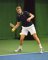 01-12-13,Netherlands, Almere,  National Tennis Center, Tennis, Winter Youth Circuit, Tom Moonen <br /> Photo: Henk Koster