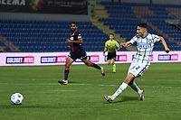 Achraf Hakimi of FC Internazionale scores the goal of 0-2 during the Serie A football match between FC Crotone and FC Internazionale at stadio Ezio Scida in Crotone (Italy), May 1st, 2021. Photo Daniele Buffa / Image Sport / Insidefoto