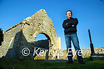 Donal Stack at the 12th century church on the grounds of Ardfert cathedral on Saturday.