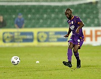 23rd May 2021; HBF Park, Perth, Western Australia, Australia; A League Football, Perth Glory versus Macarthur; Jason Geria of Perth Glory passes the ball forward as Perth mount another attack