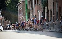 up the steep Wijnpersstraat (13 times) with Gaetan Bille (BEL/Verandas Willems) leading<br /> <br /> GP Jef Scherens 2015