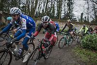 Michael van Staeyen (BEL/Cofidis) on the Chemin de Wihéries cobble section (Honelles)<br /> <br /> GP Le Samyn 2017 (1.1)