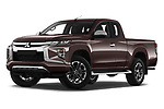 Stock pictures of low aggressive front three quarter view of 2020 Mitsubishi L200 Instyle 4 Door Pick-up Low Aggressive