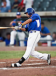 Fort Worth Cats Infielder Corey Morales (18) in action during the American Association of Independant Professional Baseball game between the Amarillo Sox and the Fort Worth Cats at the historic LaGrave Baseball Field in Fort Worth, Tx. Fort Worth defeats Amarillo 3 to 0......