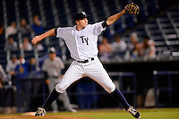 Tampa Yankees pitcher Sean Black #39 during a game against the Lakeland Flying Tigers at Steinbrenner Field on April 6, 2013 in Tampa, Florida.  Lakeland defeated Tampa 8-3.  (Mike Janes/Four Seam Images)