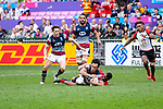 HSBC Hong Kong Rugby Sevens 2018 on 06 April 2018, in Hong Kong. Photo by Marcio Rodrigo Machado / Power Sport Images