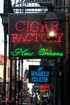 Cigar Factory neon sign, New Orleans, LA  - April 2006