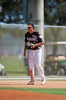 Daniel Cantu during the WWBA World Championship at the Roger Dean Complex on October 19, 2018 in Jupiter, Florida.  Daniel Cantu is a third baseman from Ponte Vedra, Florida who attends Creekside High School and is committed to South Florida.  (Mike Janes/Four Seam Images)