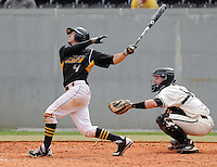 Infielder Hector Crespo (4) of the Appalachian State Mountaineers in a game against the Wofford College Terriers on April 28, 2012, at Russell C. King Field in Spartanburg, South Carolina. (Tom Priddy/Four Seam Images)