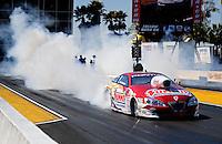 Mar. 13, 2011; Gainesville, FL, USA; NHRA pro stock driver Greg Anderson during the Gatornationals at Gainesville Raceway. Mandatory Credit: Mark J. Rebilas-