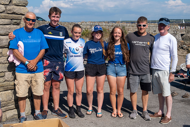 Commodore Cup Winners - Peter Forte & Crew with Michal Czubala and Brody Sweeney of Camile Thai at the prizegiving of the Mullaghmore Regatta