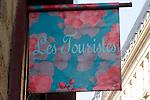 Sign, Les Tourists Shop, Le Marais, Paris, France, Europe