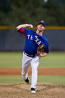 AZL Rangers relief pitcher Kyle Keith (68) delivers a warmup pitch during a game against the AZL Padres 2 on August 2, 2017 at the Texas Rangers Spring Training Complex in Surprise, Arizona. Padres 2 defeated the Rangers 6-3. (Zachary Lucy/Four Seam Images)