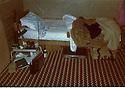 Iran 1982.In Ghalve, the room of Hadwin Shatavi, surgeon of KDPI  during the armed struggle.Iran 1982.La chambre de Hadwin Shatavi, chirurgien du PDKi  pendant la lutte armee