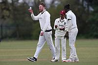 Hand sanitiser break during Rainham CC (batting) vs South Woodford CC, Hamro Foundation Essex League Cricket at Spring Farm Park on 1st May 2021