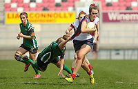 Saturday 20th April 2019   2019 Ulster Women's Junior Cup Final<br /> <br /> Sara Houston during the Ulster Women's Junior Cup final between Malone and City Of Derry at Kingspan Stadium, Ravenhill Park, Belfast. Northern Ireland. Photo John Dickson/Dicksondigital