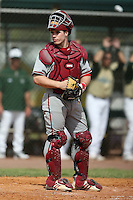 February 22, 2009:  Catcher Josh Phegley (16) of Indiana University during the Big East-Big Ten Challenge at Naimoli Complex in St. Petersburg, FL.  Photo by:  Mike Janes/Four Seam Images