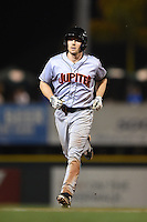 Jupiter Hammerheads catcher Chadd Krist (6) runs the bases after hitting a home run during a game against the Bradenton Marauders on April 17, 2015 at McKechnie Field in Bradenton, Florida.  Bradenton defeated Jupiter 11-6.  (Mike Janes/Four Seam Images)