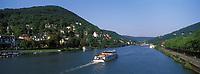 Europe/Allemagne/Bade-Würrtemberg/Heidelberg: Navigation fluviale sur le Neckar et la rive droite du fleuve