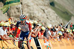 Thibaut Pinot (FRA) Groupama-FDJ climbs to stage victory on the Col du Tourmalet during Stage 14 of the 2019 Tour de France running 117.5km from Tarbes to Tourmalet Bareges, France. 20th July 2019.<br /> Picture: ASO/Thomas Maheux | Cyclefile<br /> All photos usage must carry mandatory copyright credit (© Cyclefile | ASO/Thomas Maheux)