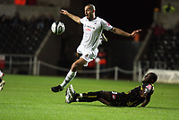 Pictured: Darren Pratley of Swansea City in action<br /> Re: Coca Cola Championship, Swansea City Football Club v Queens Park Rangers at the Liberty Stadium, Swansea, south Wales 21st October 2008.