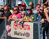 Fans, crowd, spectators, Toyota, signage