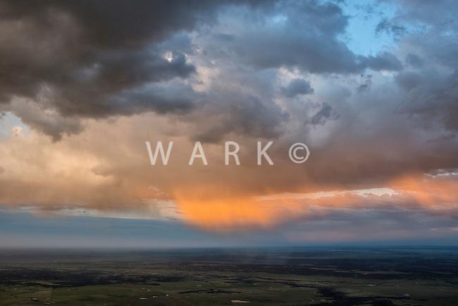 Pueblo County, Colorado sunset. May 28, 2015