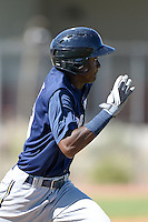 Milwaukee Brewers outfielder Nicolas Pierre (39) during an Instructional League game against the Seattle Mariners on October 4, 2014 at Peoria Stadium Training Complex in Peoria, Arizona.  (Mike Janes/Four Seam Images)