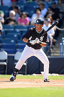 Outfielder Mason Williams (97) of the New York Yankees during a spring training game against the Philadelphia Phillies on March 1, 2014 at Steinbrenner Field in Tampa, Florida.  New York defeated Philadelphia 4-0.  (Mike Janes/Four Seam Images)