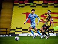 7th November 2020; Vicarage Road, Watford, Hertfordshire, England; English Football League Championship Football, Watford versus Coventry City; Tyler Walker crosses into the box to create a scoring chance