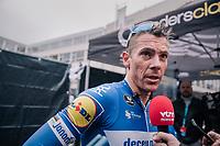 Philippe GILBERT (BEL/Deceuninck-Quick Step) interviewed post-race<br /> <br /> 74th Omloop Het Nieuwsblad 2019 <br /> Gent to Ninove (BEL): 200km<br /> <br /> ©kramon