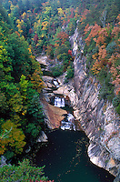 Aerial view of Tallulah Gorge showing Chattanooga River. Tallulah Falls Georgia, Tallulah Gorge State Park.