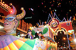 The parade passes by at the Mardi Gras Ball outside the Tremont House in Galveston Saturday Feb. 13,2010.(Dave Rossman Photo)
