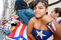Jackie shows her Puerto Rican pride at the Puerto Rican Day Parade in New York City on June 11, 2006.