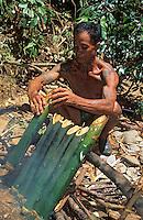 Asie/Malaisie/Bornéo/Sarawak: Chez les Dayak: La cuisine de la jungle - Poissons, pousses de bambou et fougères
