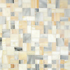 Garden Party, a hand-cut mosaic, shown in Alabaster, Quartz, and Agate Sea Glass™, is part of the Sea Glass™ Collection by New Ravenna.