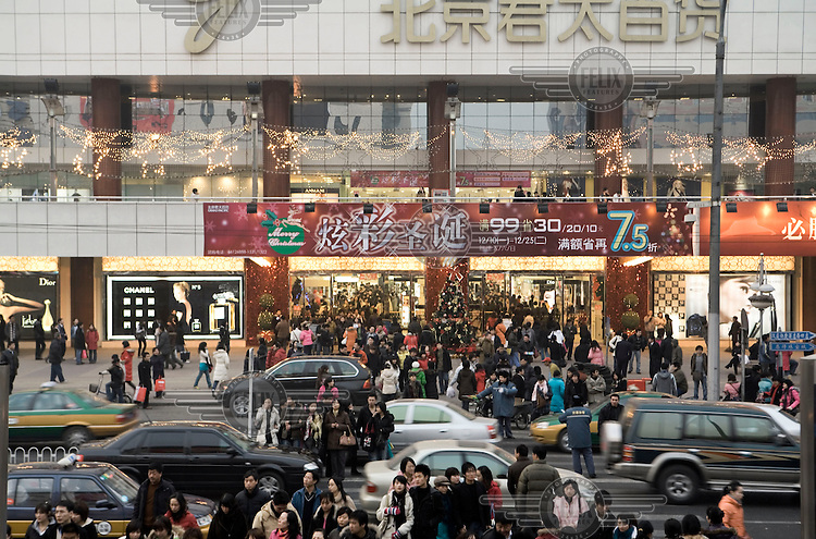 Weekend traffic congestion in Beijing. The city now has three million cars, a number which grows by about 1,000 a day.