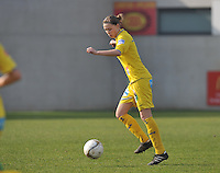 Waasland Beveren Sinaai Girls - Famkes Merkem : .Kwartfinale beker van België 2011-2012 : Anouk Bonnarens..foto DAVID CATRY / JOKE VUYLSTEKE / Vrouwenteam.be