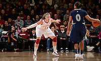 STANFORD, CA - DECEMBER 28: Kayla Pedersen of Stanford women's basketball on defense in a game against Xavier on December 28, 2010 at Maples Pavilion in Stanford, California.  Stanford topped Xavier, 89-52.
