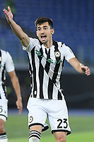 23rd September 2021;  Stadio Olimpicom, Roma, Italy; Serie A League Football, Roma versus Udinese; Ignacio Pussetto of Udinese argues an officials call