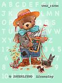 GIORDANO, CUTE ANIMALS, LUSTIGE TIERE, ANIMALITOS DIVERTIDOS, Teddies, paintings+++++,USGI1520M,#AC# teddy bears