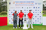 Group 22 poses for a portrait during the 9th Faldo Series Asia Grand Final 2014 golf tournament on March 18, 2015 at Mission Hills Golf Club in Shenzhen, China. Photo by Xaume Olleros / Power Sport Images