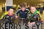 Pictured at the Cycling Ireland 'Sprocket Rocket' Coaches Training Day in the Manor West Hotel on Saturday are from left: Graham Tuohy, Rory Langford and Pat Culligan.