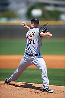 Detroit Tigers pitcher Jordan Smith (71) during a minor league Spring Training game against the New York Yankees on March 22, 2017 at the Yankees Complex in Tampa, Florida.  (Mike Janes/Four Seam Images)